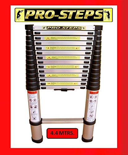 Escalera telescópica 4.4 mtrs marca Pro-Steps