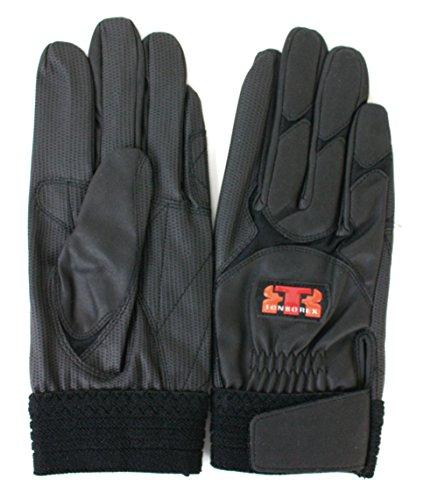 TONBOREX(トンボレックス) レスキューグローブ 作業用合皮手袋 E-838BK ブラック Mサイズ