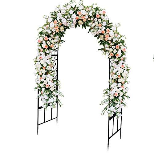 Übergroße Gartenlaube Bogen Hochzeitsbogen Outdoor Eingangsbogen für Kletterpflanzen Gartenbogen Gartenlaube Rosen Reben Stützgitterbogen für Hochzeitsfeier Dekoration Pergola Laube