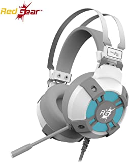 Redgear Cosmo 7.1 USB Gaming Headphones with RGB LED Effect, Mic and in-line Controller for PC [Special White Edition]