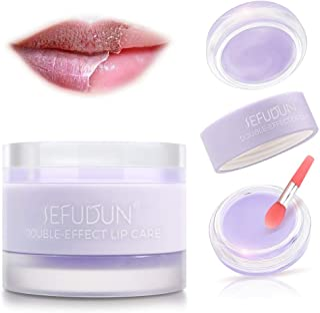 Lip Sleep Mask with Collagen Peptide, Lavender Lip Scrub Overnight Moisturizer for Lip Skin Care and Lip Treatment Repairs...