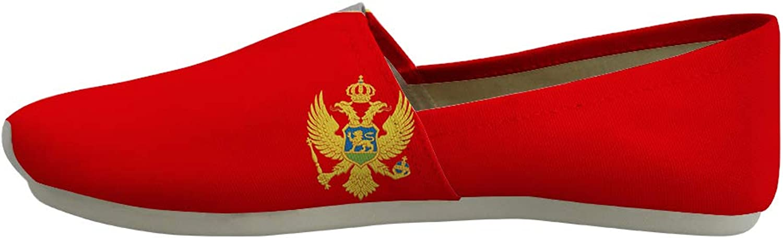 Owaheson Classic Canvas Slip-On Lightweight Driving shoes Soft Penny Loafers Men Women Monteblack Flag