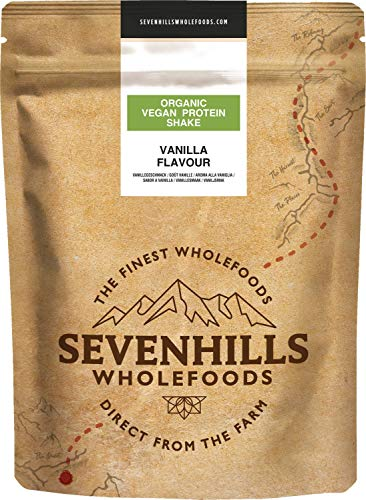 Sevenhills Wholefoods Organic Vegan Protein Powder Shake, Vanilla 1kg