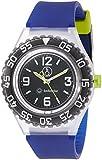 [シチズン Q&Q] 腕時計 アナログ スマイルソーラー ダイバーズ 防水 ウレタンベルト RP16-007 メンズ ブラック × ブルー