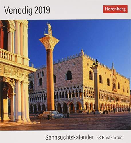 Venedig - Kalender 2019: Sehnsuchtskalender, 53 Postkarten