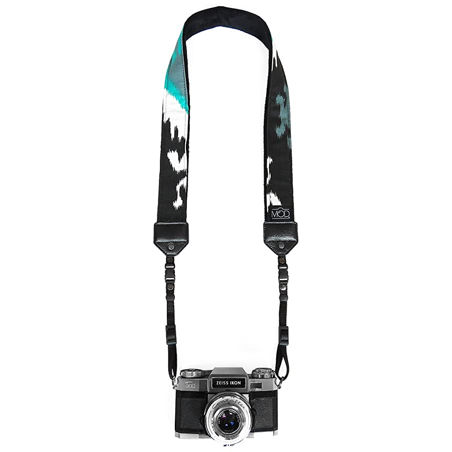 Mod Straps Black & Teal Inkdrop w/Quick Release Feature Premium Camera Strap