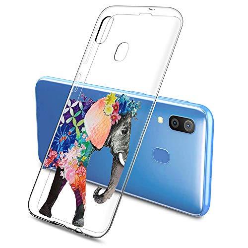 Oihxse Clair Case pour Samsung Galaxy A90 5G Coque Ultra Mince Transparent Souple TPU Gel Silicone Protecteur Housse Mignon Motif Dessin Anti-Choc Étui Bumper Cover (A12)