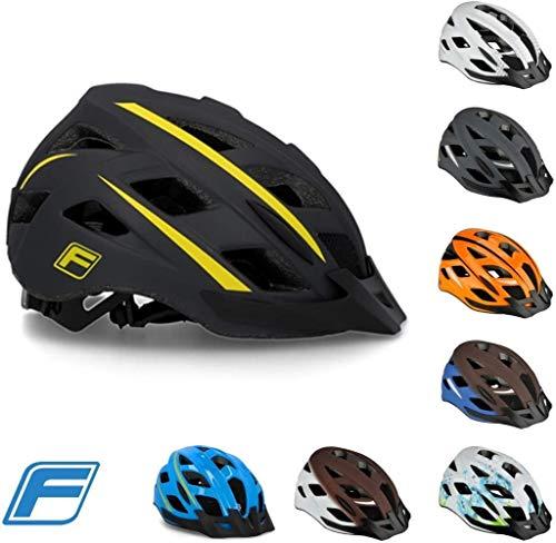 Fischer Städtischer Lano Fahrradhelm, Größe Name: S/M 55-59, Farbe Name: Sport Orange. (Color : Montis black, Size : S/M 55-59)