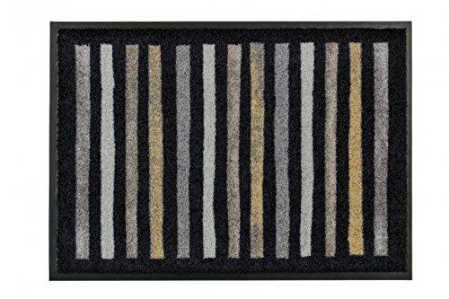 Fußmatte Schöner Wohnen Broadway Schwarz Streifen in 3 Größen