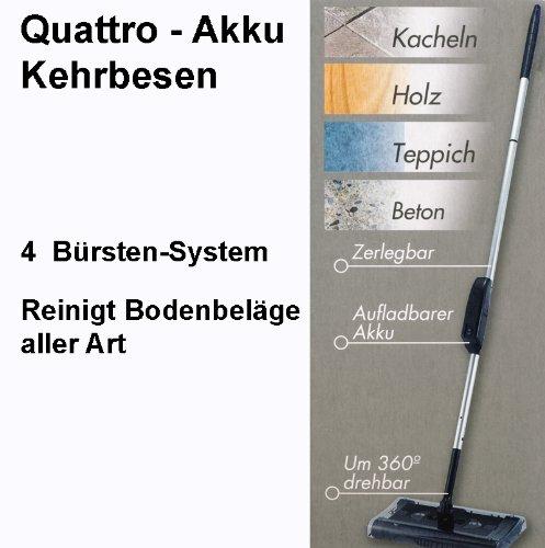 Staubsauger Akku Quattro Kehrbesen mit 4tlg. Bürstensystem - 2