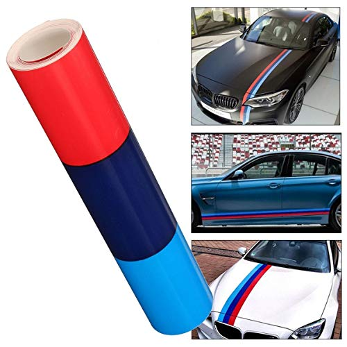 N\A For Accesorios for automóviles 1.5m m de Color Rayas Rally Hood Capucha Racing Motorsport Vinyl Decal Etiqueta Etiqueta Strip Bumper Engine Cover,Kit de Envoltura de automóviles