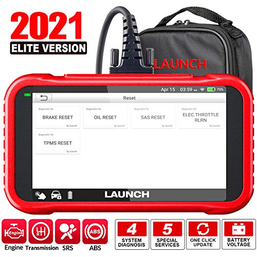 LAUNCH OBD2 Scanner-2021 New CRP129E Scan Tool for TCM Eng ABS SRS Code Reader, Oil/EPB/TPMS/SAS/Throttle Body Reset Diagnostic Tool with Carry Bag, AutoVIN WiFi Update,Upgraded of CRP123