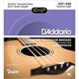 D'Addario EXPPBB190GS 37-90 Taylor GS Mini Scale Phosphor Bronze Coated Acoustic Bass Strings