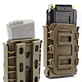 RioRand Tactical Softshell Mag Pouch 5.56mm 7.62mm Airsoft Hunting Shooting Soft Shell Mag Carrier Bag with Molle Clip/Air Hole(Earthy Brown )