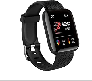 Lamkei Bouncefit SFT-2023 Activity Tracker, Blood Pressure, Steps, Heart Rate, Touchscreen, Water Resistant, Square Black ...
