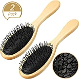 2 Pieces Hair Wig Brush Wood Loo...