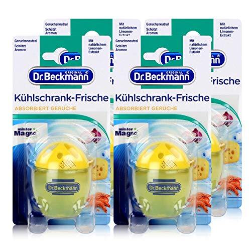 4x Dr. Beckmann Kühlschrank Frische Limone - Mit natürlichem Limonen-Extrakt