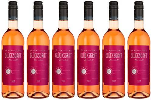 Glücksgriff Spätburgunder Rosé Qualitätswein Feinherb (6 x 0.75 l)