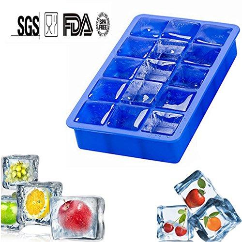Stampi per ghiaccio in silicone Ice Cube Tray with 15 Cavity