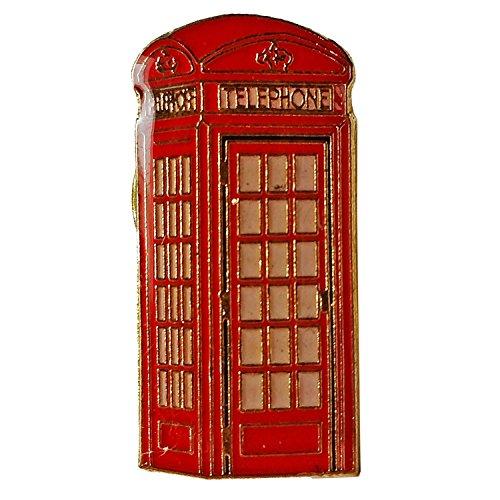 London Telefonzelle Revers Pin - Rotes Abzeichen / Anstecknadel / Metall und Emaille / Britische Andenken aus England Großbritannien