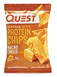 プロテイン チップス(Protein Chips) トルティーヤ スタイル ナチョチーズ(NACHO CHEESE) 味 8袋セット [並行輸入品]