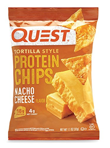 プロテイン チップス(Protein Chips) トルティーヤ スタイル ナチョチーズ(NACHO CHEESE) 味 8袋セット [並...