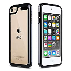 powerful ULAK cover for iPod Touch 7, cover for iPod Touch 6  5, transparent slim TPU / scratch-resistant hybrid bumper hard …
