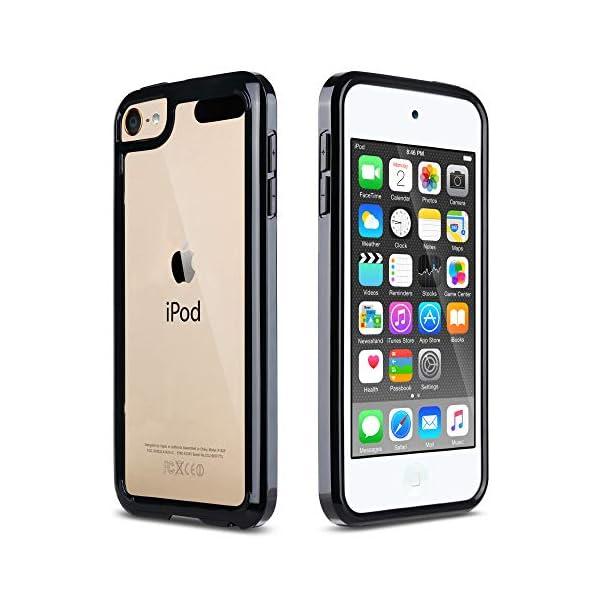 ULAK iPod Touch 7 Case, iPod Touch 6 Case, Slim Fit Hybrid Bumper TPU/Scratch Resistant...