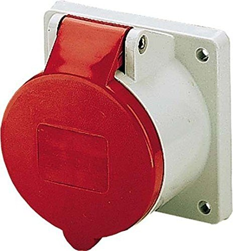 Mennekes 101100220 sokkel: CEE, stopcontacten, 400V, 50-60Hz, 32A, 4-polig, IP 44, rood