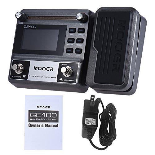 GE100 guitarra efecto Multi-procesador de efectos del Pedal del efecto con la grabación de bucle (180 segundos) 8 efecto módulos y 66 tipos de efectos,USPlug