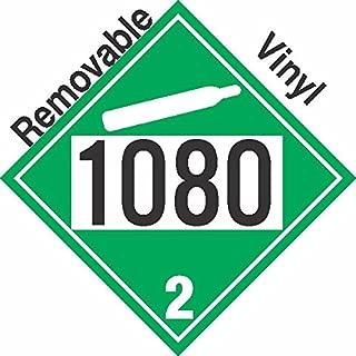 GC Labels-P305c1080, Non-Flammable Gas Class 2.2 UN1080 Removable Vinyl DOT Placard, Package of 50 Placards
