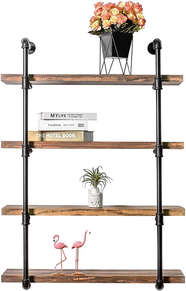 Industrial 祝日 Iron Pipe Wall Mount Vintage Brackets. DIY 激安 Open Shelf
