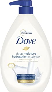 Dove Body Wash with Pump with skin natural nourishers Deep Moisture shower gel for instantly soft skin and lasting nourish...