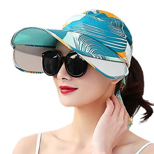 Outflower Pamela de Algodón Cubrir Cara para Mujer Sombrero de Verano Gorro...