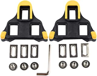 JVSISM Road Bike Cleats 6 Degree Float Self-Locking Cycling Pedals Cleat for SPD-SL System Shoes