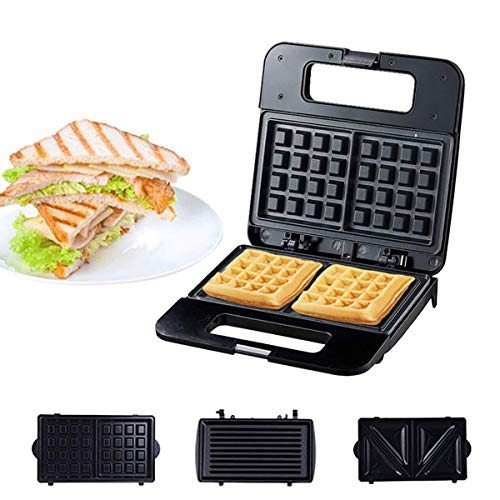 Small Sandwich Maker,Electric Waffles Maker, Sandwich Maker 3 In 1 , Bubble Egg Cake Oven Breakfast Waffle Machine, With Removable Plates