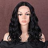Style Icon Pelucas de encaje frontal suelto rizado de 17 pulgadas, 3,8 x 10,16 cm, encaje de imitación cuero cabelludo Pelucas de reemplazo de pelo sintético Pelucas para mujeres resistente al calor