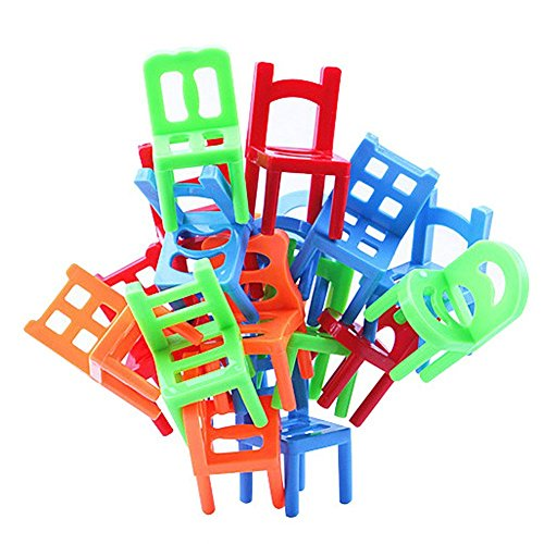 Trekbest Balance Chairs Game Toys - 18 Chair Toys Stacking Intelligence Multiplayer Parent-Child Game as Birthday Gift