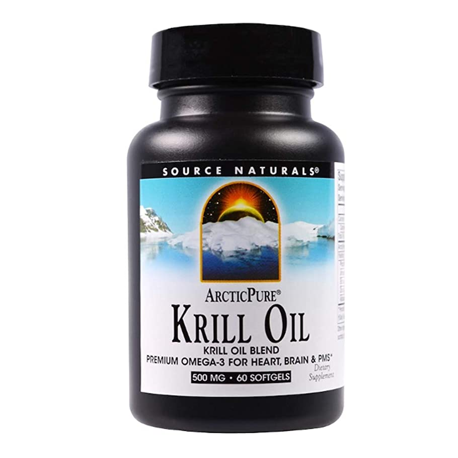 雷雨昆虫調停するSource Naturals ArcticPure クリルオイル 500 mg 60ソフトカプセル 【アメリカ直送】