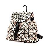 Rucksack Lack Japanisch Handtaschen Glänzend Rhombus Nähen Rubiks Cube Falten Reisen Großen...