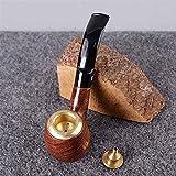 SSOLEREIT Pipa extraíble Pipa de Madera Pipa de cigarro Tallada a Mano, Adecuada para Mujeres, Hombres y Todos los Fumadores para asistir a la Fiesta