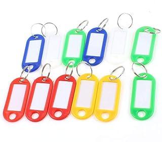 PULABO Étiquettes de clé en Plastique Multicolores Étiquettes de Porte-clés d'identification d'identification de Bagage av...