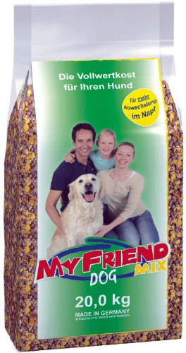 bosch My Friend Mix | Hundefutter für ausgewachsene Hunde aller Rassen | ausgewogener Krokettenmix mit Flocken