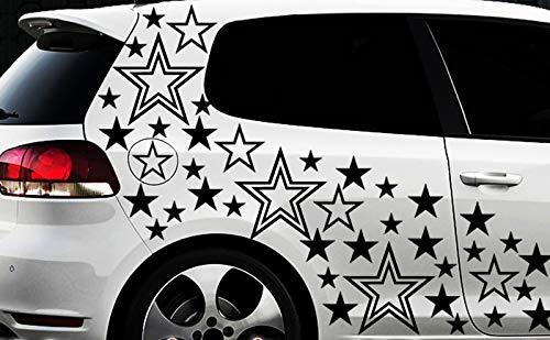 HR-WERBEDESIGN Walindamedia Lot de 93 Autocollants pour Voiture Motif étoiles Rose XXX Tuning WANDTATTOO XXL