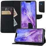 MOELECTRONIX Buch Klapp Tasche Schutz Hülle Wallet Flip Hülle Etui passend für Huawei Nova 3 PAR-LX1