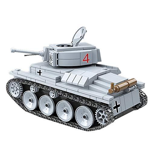 Ke5441lia Panzer Technik Fahrzeugmodell LT VZ.38 PZKPFW 38(T), DIY 535 Stück Militärthema Kleiner Partikel Bausteinmodell Set für 100 % Bausteinmarken Kompatibel mit Lego Technic
