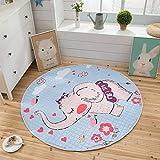 Saco de limpieza para niños, ideal para la rápida recogida de niños, alfombra de gateo, saco de limpieza, alfombra de juegos, juguetes y bolsa de almacenamiento (elefante)