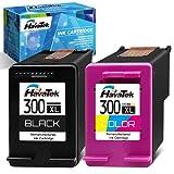 HavaTek Remanufacturado 300 XL Negro Tricolor Cartuchos de Tinta para HP 300XL Combo Pack para HP Envy 120 100 110 114 Deskjet F2480 F4272 F4280 F4500 F4580 PhotoSmart C4680 C4780 D110a Impresoras