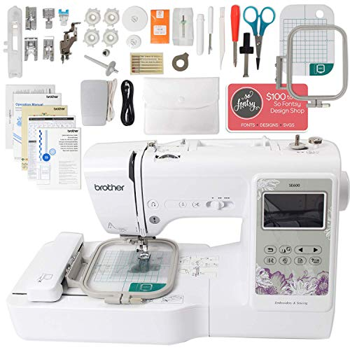 Buy Cheap Brother SE600 Computerized Sewing and Embroidery Machine Bundle with 4 x 4 Embroidery Ar...