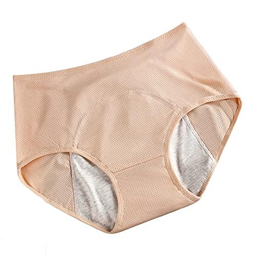 Bragas de algodón de cintura alta para mujer con control de barriga, ropa interior de recuperación de sección C, bragas elásticas suaves, 3 unidades, color negro + tono de piel + albaricoque